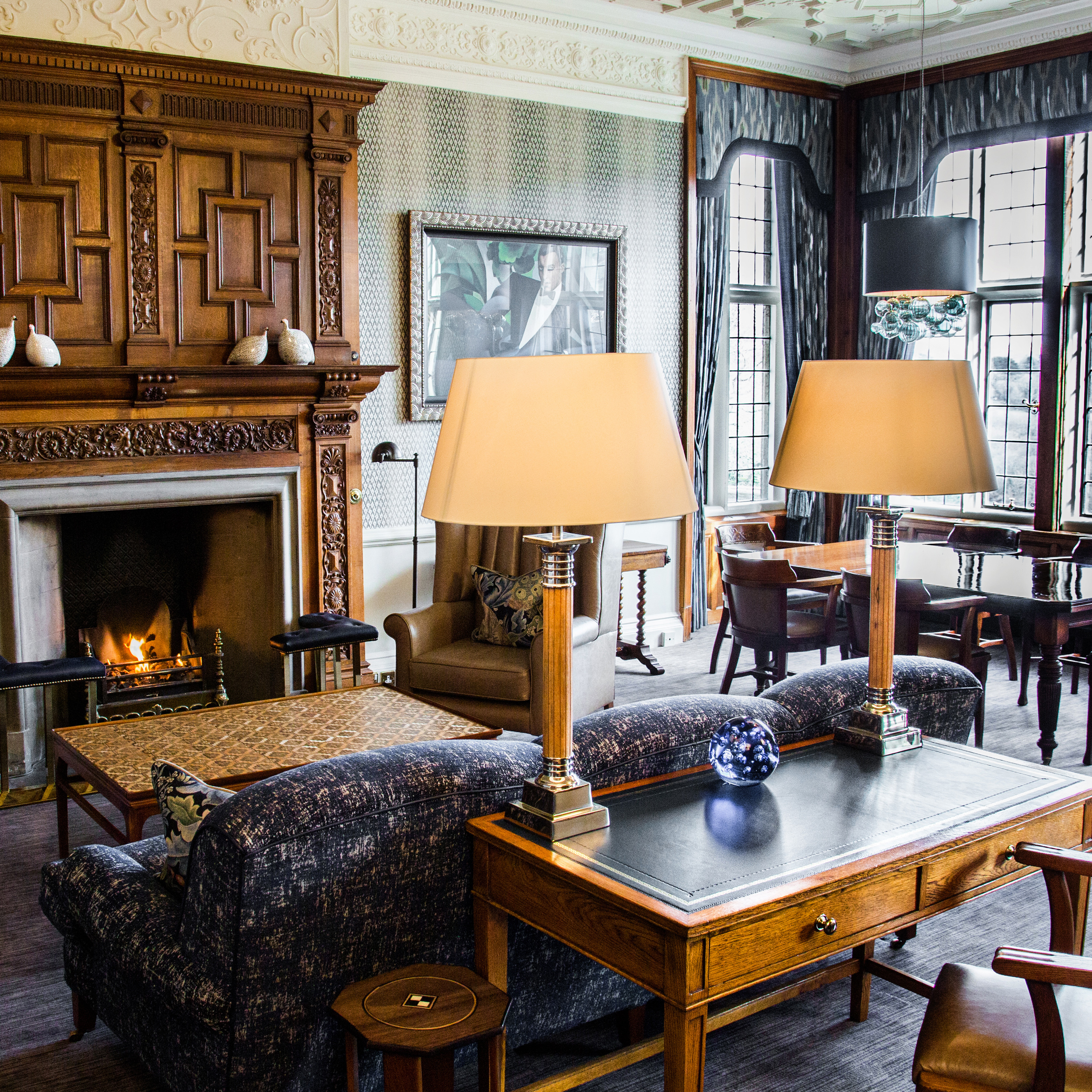 The Library at Bovey Castle